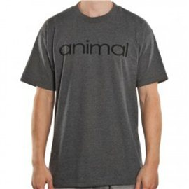 T-Shirts Animal Wordmark Gray M